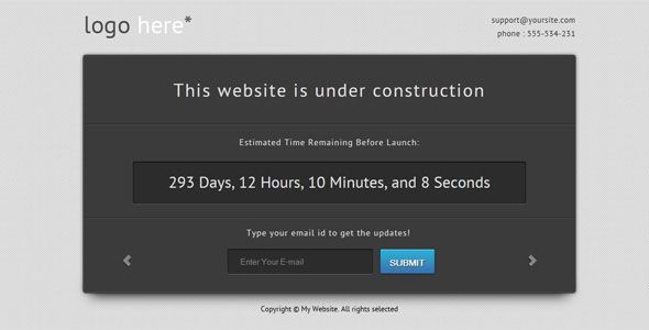 "Free ""Site Under Construction"" Template"