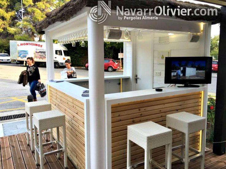 Barra de chiringuito fabricada con krion. www.navarrolivier.com  #kiosco #chiringuito #KRION #minibar #beachbar #guingueta #navarrolivier #expoplaya