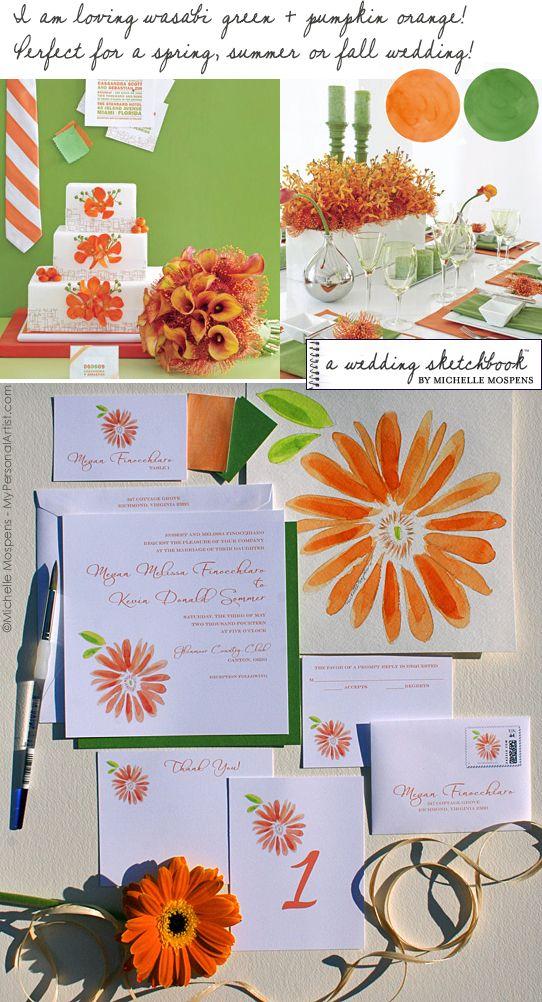 82 best Orange and Green Wedding images on Pinterest   Orange ...