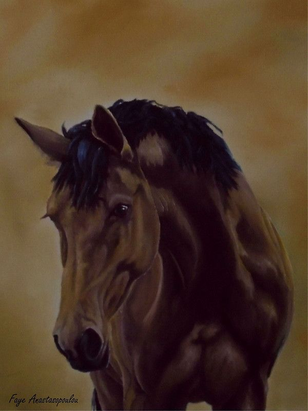 Horse, painting, realism,brown,colors,dark,equine,eqiestrian,animal,wild,life,wildlife,western,stallion,figurative,unique,artistic,beautiful,cool,awesome,decor,contemporary,modern,virtual,deviant,unique,fine,art,oil,wall art,awesome,cool,image,picture,artwork,for sale,redbubble