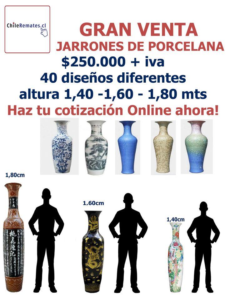 Compra Jarrones de Porcelana de Gran Altura. Cotiza Online en www.chileremates.cl