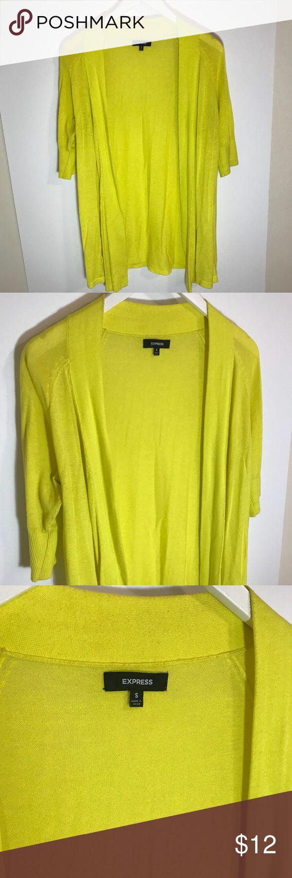 Express Neon yellow open cardigan size Sm Express  Neon yellow  open cardigan  pre-loved still in good condition  Size Small Express Tops