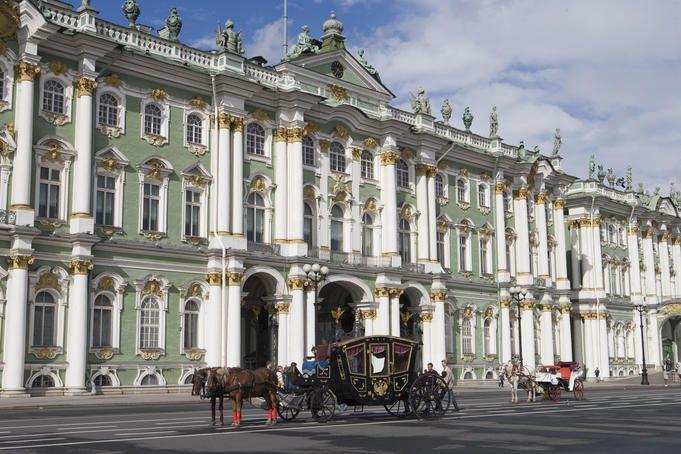 Winter Palace, Russia: designed by Francesco Bartolomeo Rastrelli as the winter residence of the Russian tsars.