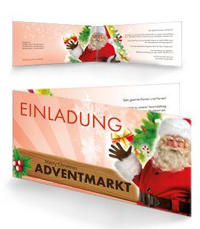 Einladungen Zum Adventmarkt Jetzt Online Gestalten. #einladungskarten  #adventmarkt #einladungen