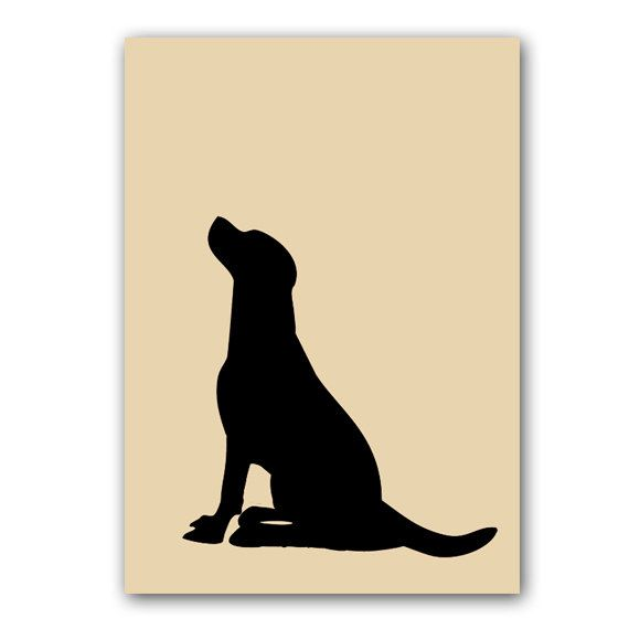 20% OFF Black Labrador Dog - Fine art print, dog decor, black silhouette, pet , animal, Dog art