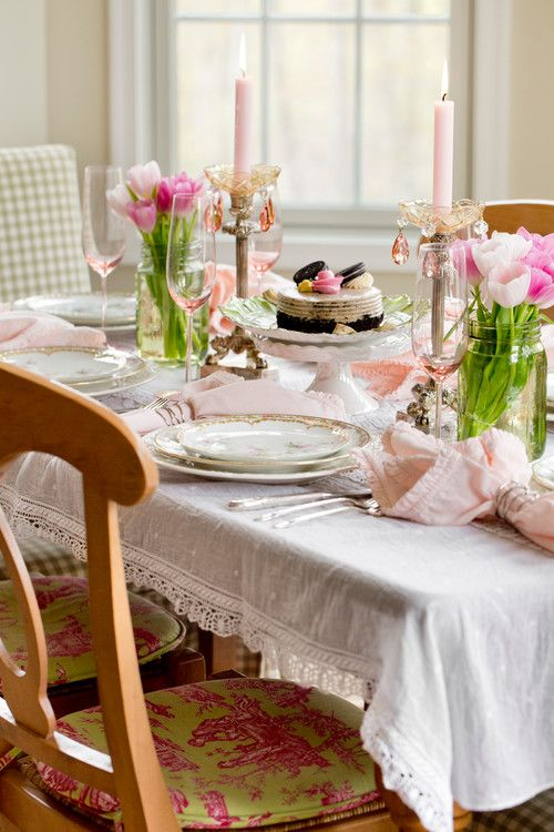 decorating with pink and green shabby chic dining shabby and room. Black Bedroom Furniture Sets. Home Design Ideas