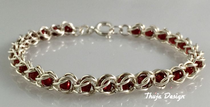 Handmade sterling silver braclet with granat stones.Sold.But in order I can make a new one.