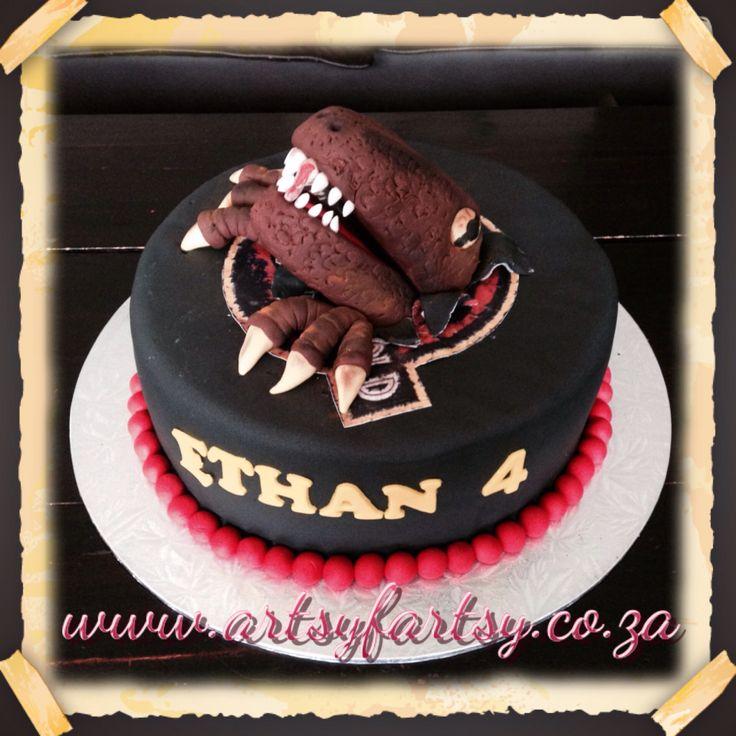 Jurassic Park T-Rex Cake