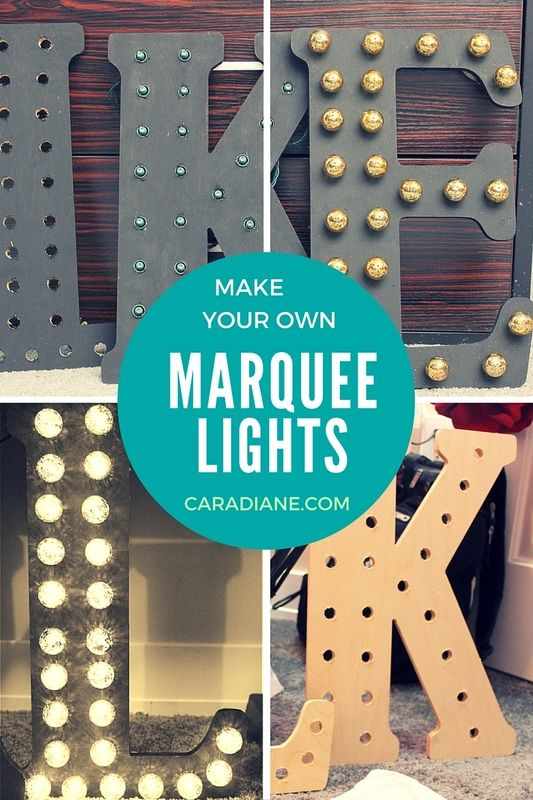 Make your own Marquee Lights - Wood Letters