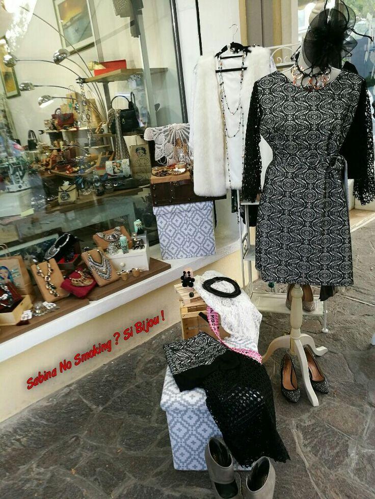 Vestito e gonna pizzo nero e bianco Creazioni artigianali #sabinanosmokingsibijou