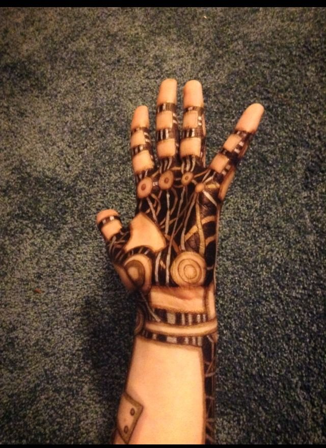 robot arm | FX Makeup | Pinterest | Sharpie tattoos, Ink ...