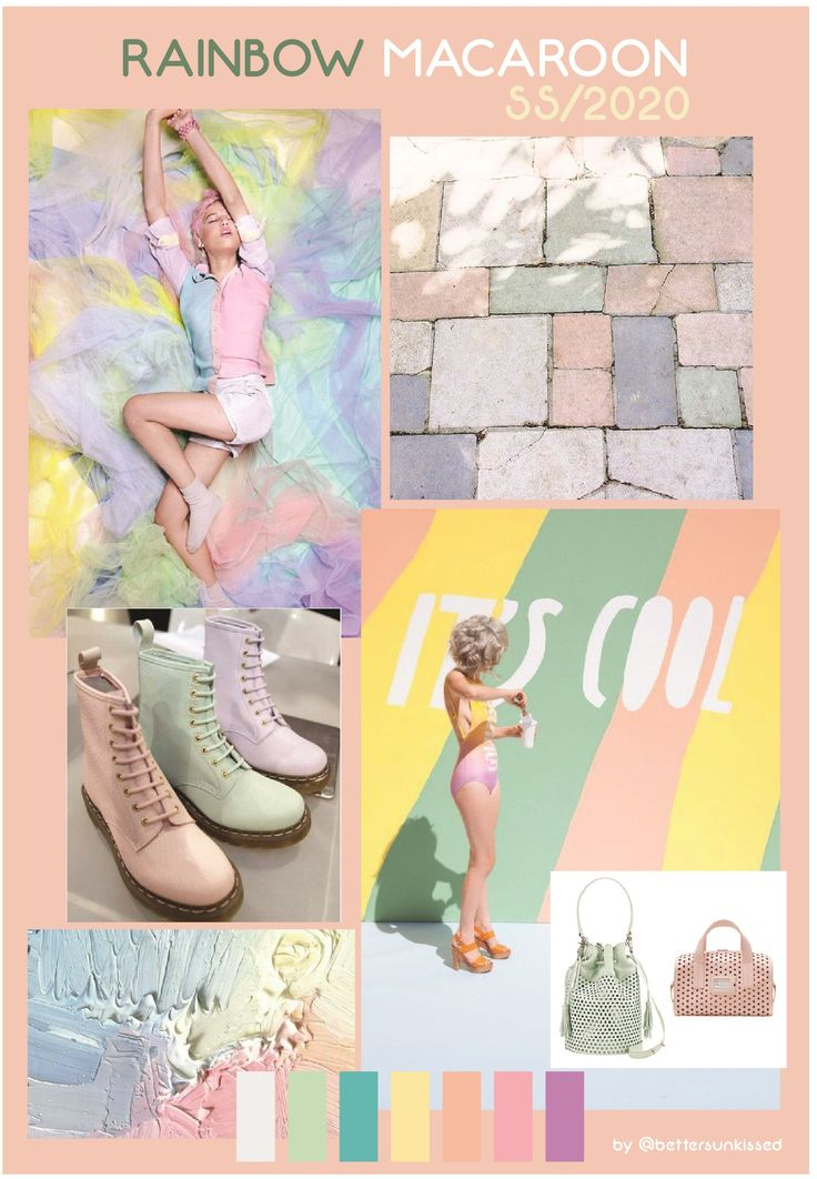 COLOR TREND FORECAST SS/2020 – SPRING SUMMER 2020 RAINBOW MACAROON