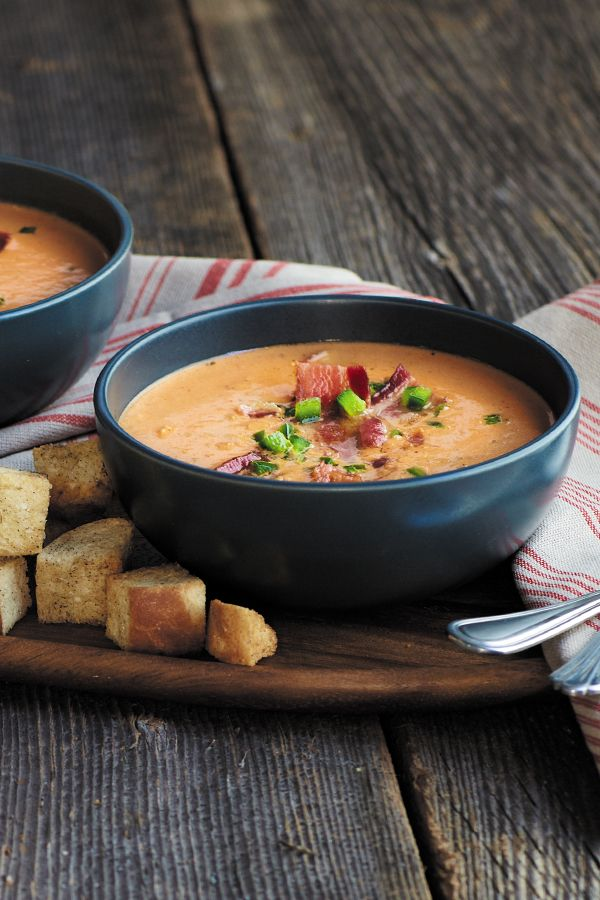 Dietz & Watson's Spicy Bacon Lovers Soup is obviously the perfect soup for the bacon lovers. And aren't we all bacon lovers? So basically, it's the perfect soup for everyone.