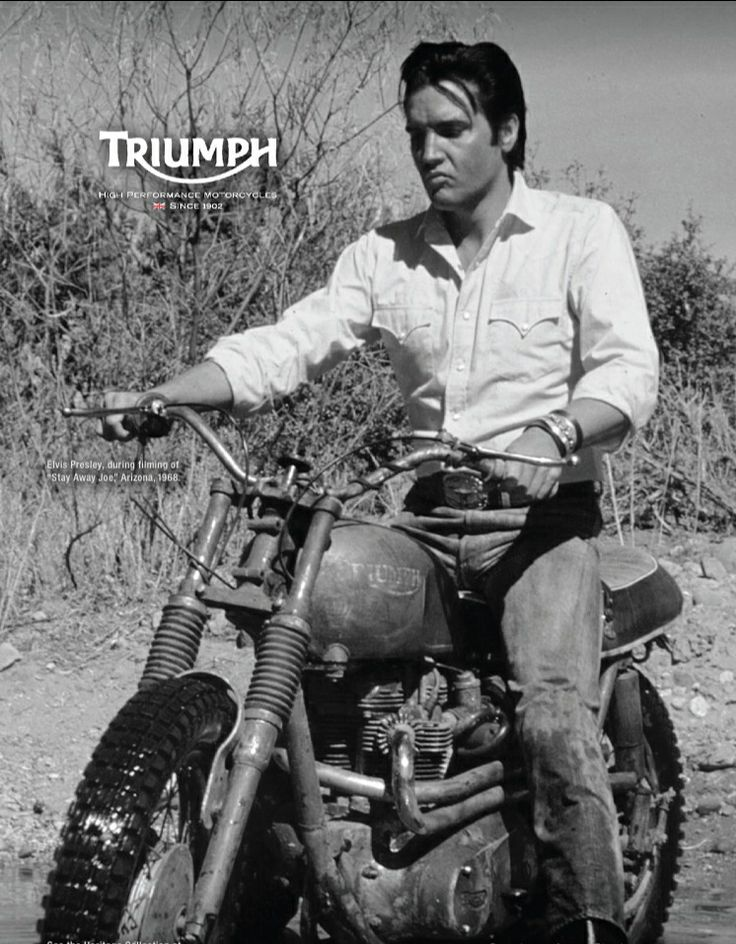 Elvis Riding Classic Motor Cycles