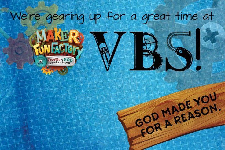 Advertising Postcards - Maker Fun Factory VBS - BorrowedBlessings.net - Borrowed Blessings