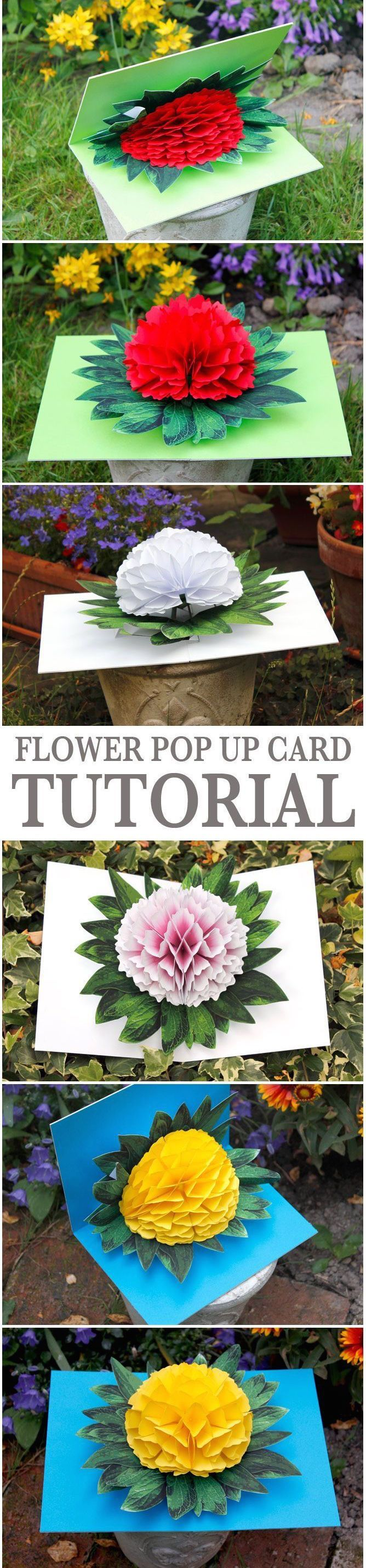 Flower pop up card Mother's Day tutorial - so sweet and colorful.