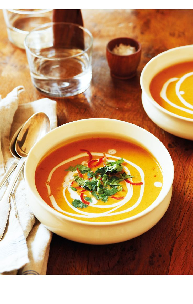 Warming and creamy, coconut adds a silky smooth texture to this intense and exotic autumnal soup, perfectly complimenting spicy pumpkin.