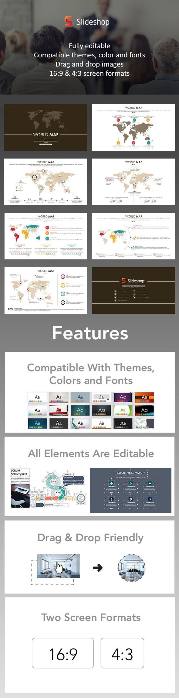 World Map PowerPoint Templates Presentation Templates