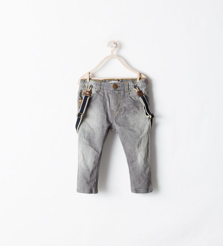 LOW RISE JEANS WITH SUSPENDERS from Zara