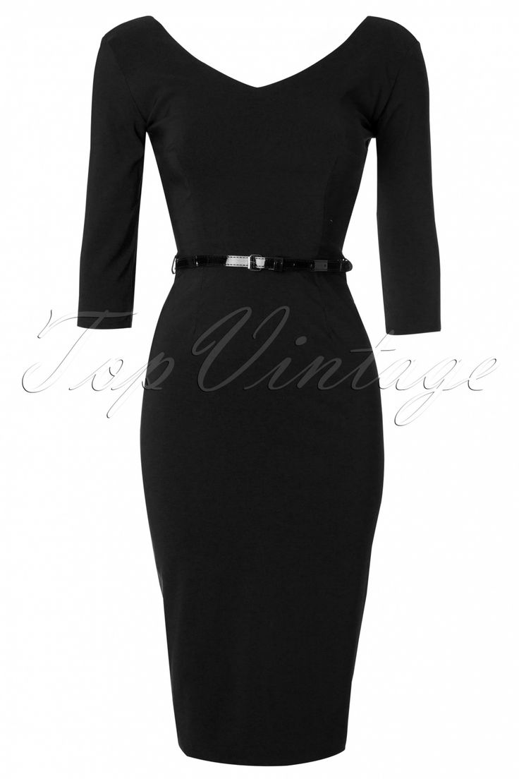 The Pretty Dress Company - Burbank Black Pencil Dress