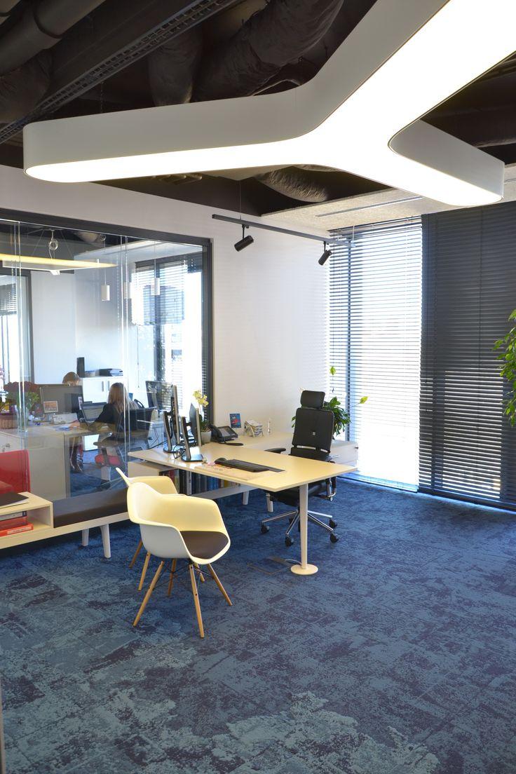 "Dentsu Aegis Network Warsaw - Lamp made by ""W Kwadrat Studio"""