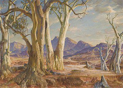 In the Flinders - Far North - Hans Heysen