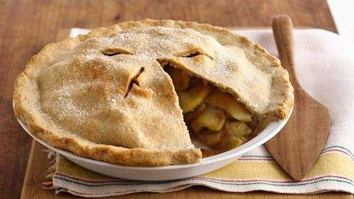 This apple pie is a classic, from the scrumptious filling to the flaky pastry crust.  It is homemade goodness at its very best.