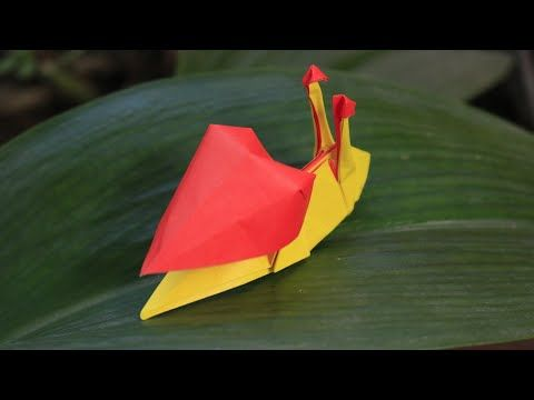 Origami Heart Snail by PaperPh2 - YouTube
