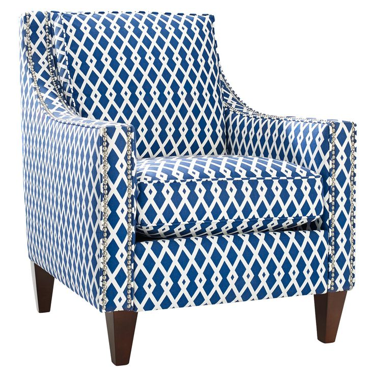 Have to have it. Homeware Pryce Accent Chair - Ultramarine $749  Master bedroom chair