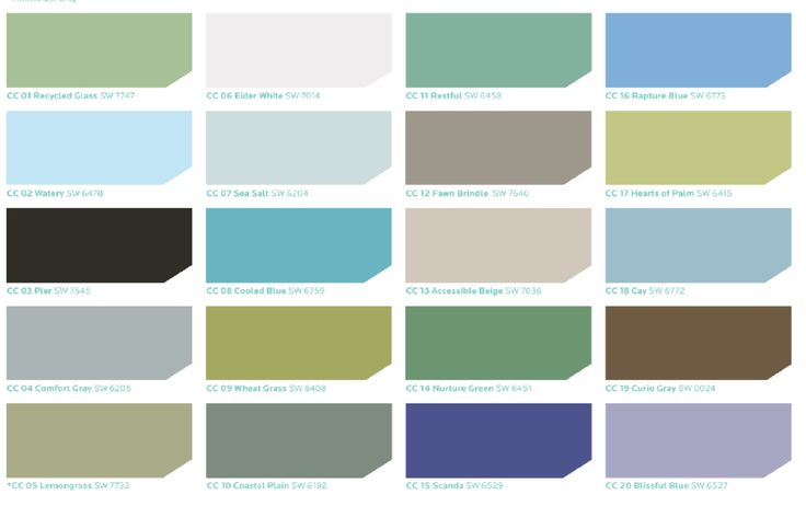 Sherwin williams coastal cool color palette every color for Cool colors together