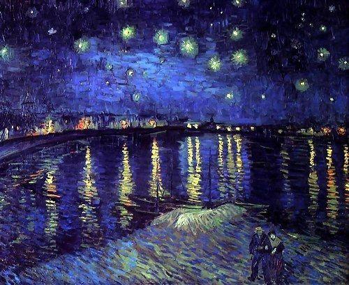 Noche estrellada sobre el Ródano, Vincent Van Gogh, 1888
