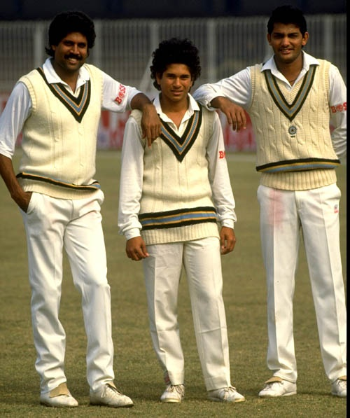 1989: Sachin Tendulkar, at the age of 15, had become the youngest Indian to score a century on first-class debut, in 1988. A year later he made his Test debut in Pakistan, rubbing shoulders with giants like Kapil Dev, who had started playing for India when Tendulkar was only five years old.