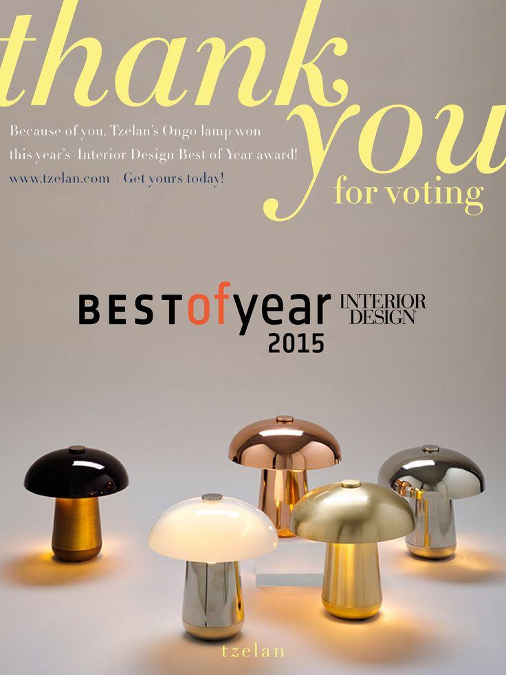 ONGO Lamp designed by Tzela. Best of Year 2015 Interior Design