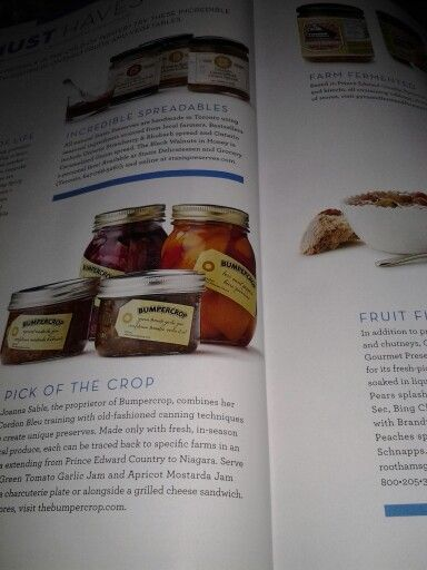 Bumpercrop is thrilled to be in one of Ontario's finest publications, Food and Drink. We are proud of their recgonition of our local love.