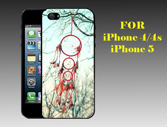 Old Dream catcher - Print on Hard Cover iPhone 5 Black Case - iPhone 4/4s Case - Please Leave a Note For the Type Case and Color Case