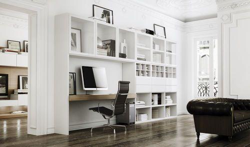 Bureau contemporain / avec étagère LA SALA CARRE furniture