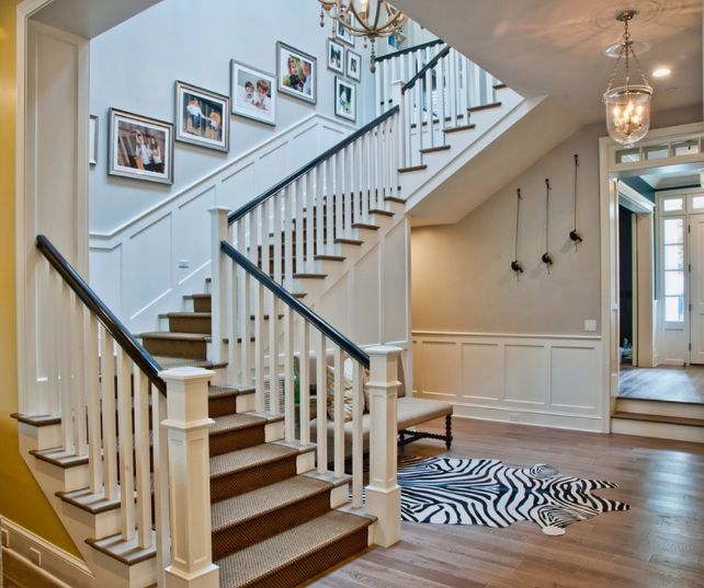 Breezy Brentwood   Traditional   Staircase   Los Angeles   By Jill Wolff  Interior Design. Step Down From Foyer Into Living Room.