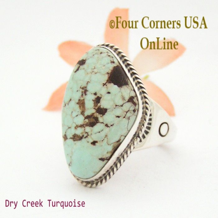Four Corners USA Online - Size 13 Men's Dry Creek Turquoise Ring Navajo Tony Garcia American Indian Silver Jewelry NAR-1405, $245.00 (http://stores.fourcornersusaonline.com/size-13-mens-dry-creek-turquoise-ring-navajo-tony-garcia-american-indian-silver-jewelry-nar-1405/)