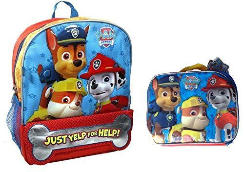 new paw patrol backpack lunch box just yelp for help back to school set. Black Bedroom Furniture Sets. Home Design Ideas