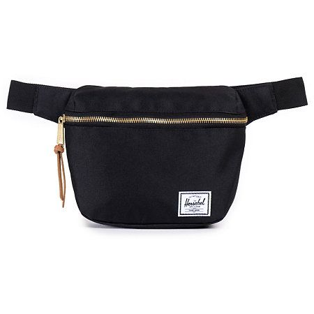 Keep your items close with a stylish black hip pack with a white waterproof zipper pouch pocket and an adjustable plastic clip waist strap.