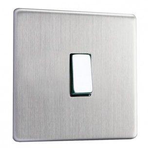 Interrupteur design haut de gamme rocker switch finition acier brossé