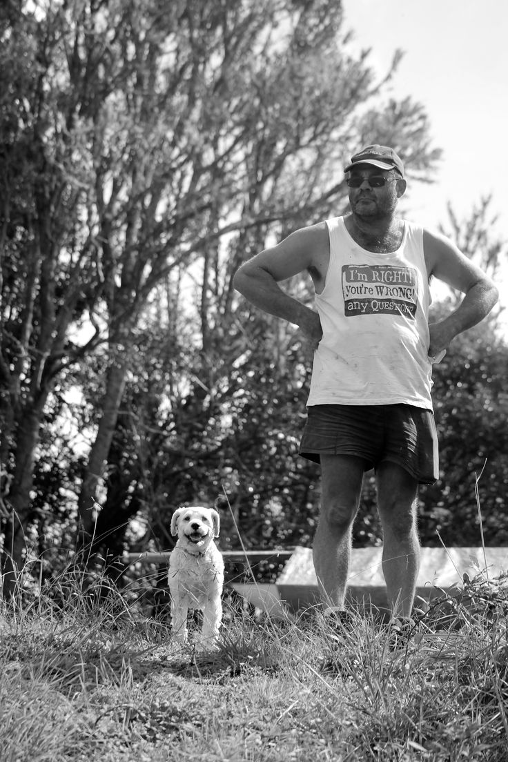 Man and mans best friend! - Warkworth, NZ (2015)