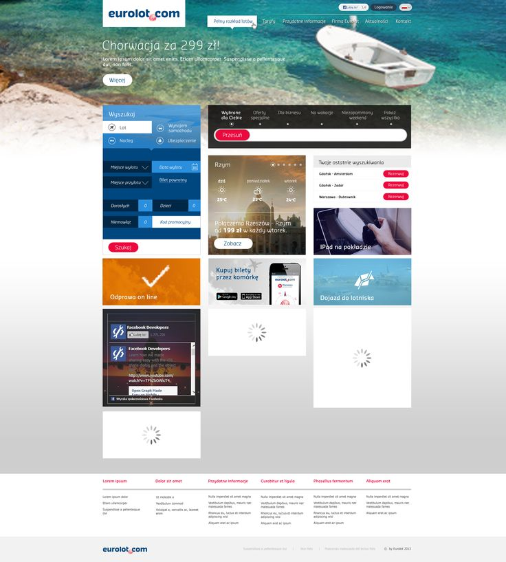 Eurolot website design.