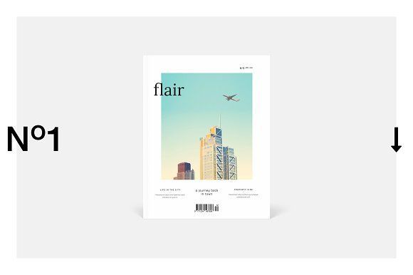 Flair Magazine by silukEight on @creativemarket
