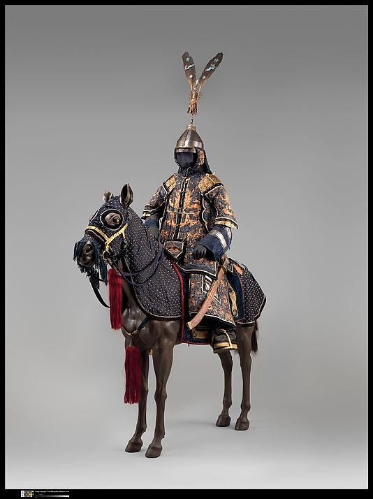 Armor with Equestrian Equipment, late 18th–19th century. Chinese. The Metropolitan Museum of Art, New York. Bequest of George C. Stone, 1935 (36.25.3a–v) #horses