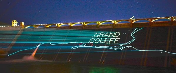 Grand Coulee Laser Light Show at Grand Coulee Dam