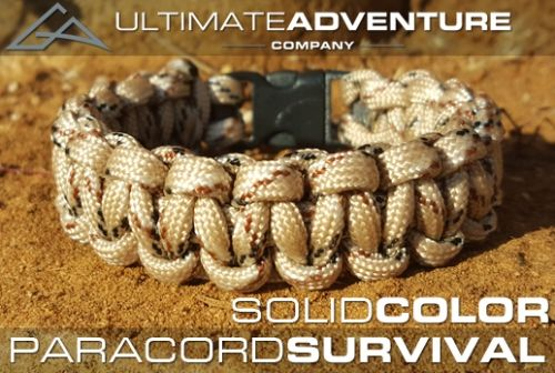 Ultimate Adventure Company Paracord Survival Bracelet Solid Color