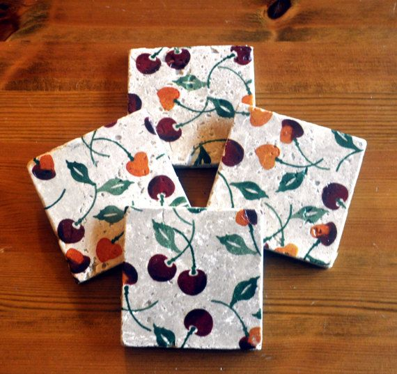 Emma Bridgewater Style Summer Cherries Natural by DevonMadeDesigns