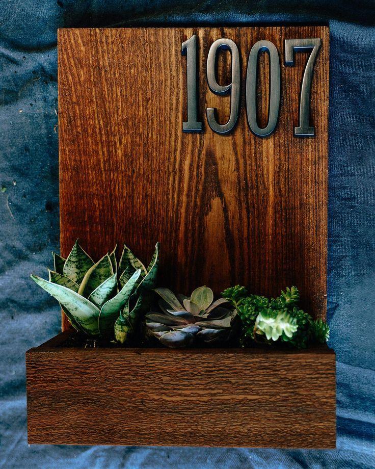 succulent house number plant box DIY. love!