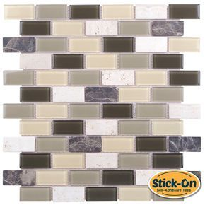 Peel and Stick Tuscany Glass Mosaic Tile is a do it yourself product that combines glass tiles and the latest peel & stick technology suitable for kitchen backsplash. One of the greatest advantages of this self-adhesive tile, it is the ability to lay it on the wall without using any kind of cement or setting material, which is a huge time saver. After you attach it to wall, you may apply a pre-mixed grout (not included) without waiting until the next day, which is the normal process when ...